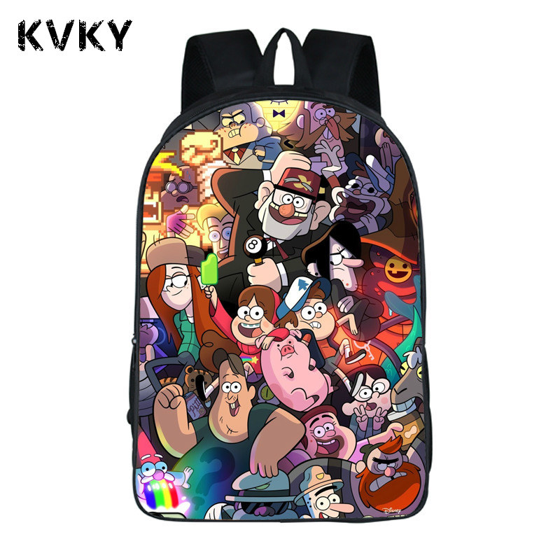 2017 Anime Gravity Falls Pringting Backpack For Teenagers Boys Girls School Bags Kids Chica Student Backpacks
