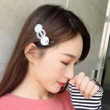 Fashion Resin Acetate Duckbill Hair Clip Women Barrette Hairpins Sweet Girls Pearl  Accessories for