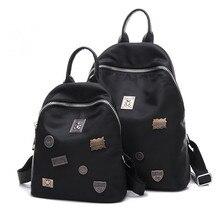 Женские туфли-оксфорды рюкзаки отдыха должны сумки водонепроницаемый нейлон Сумка Lady черный SAC bandouliere заклепки Mochila Mujer 2017