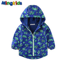 Mingkids new boy windbreaker jacket waterproof outdoor raincoat for baby boy with fleece lining Autumn Spring export Europe hot