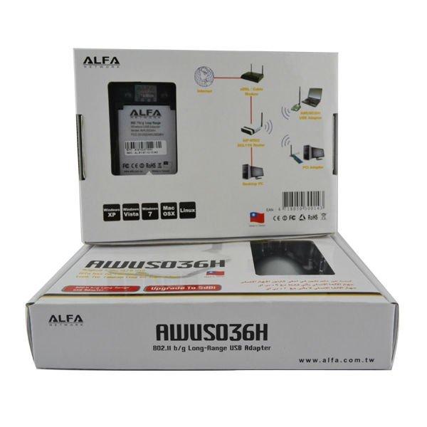 Red alfa awus036h 1000 mw 1 w wireless g usb adapter