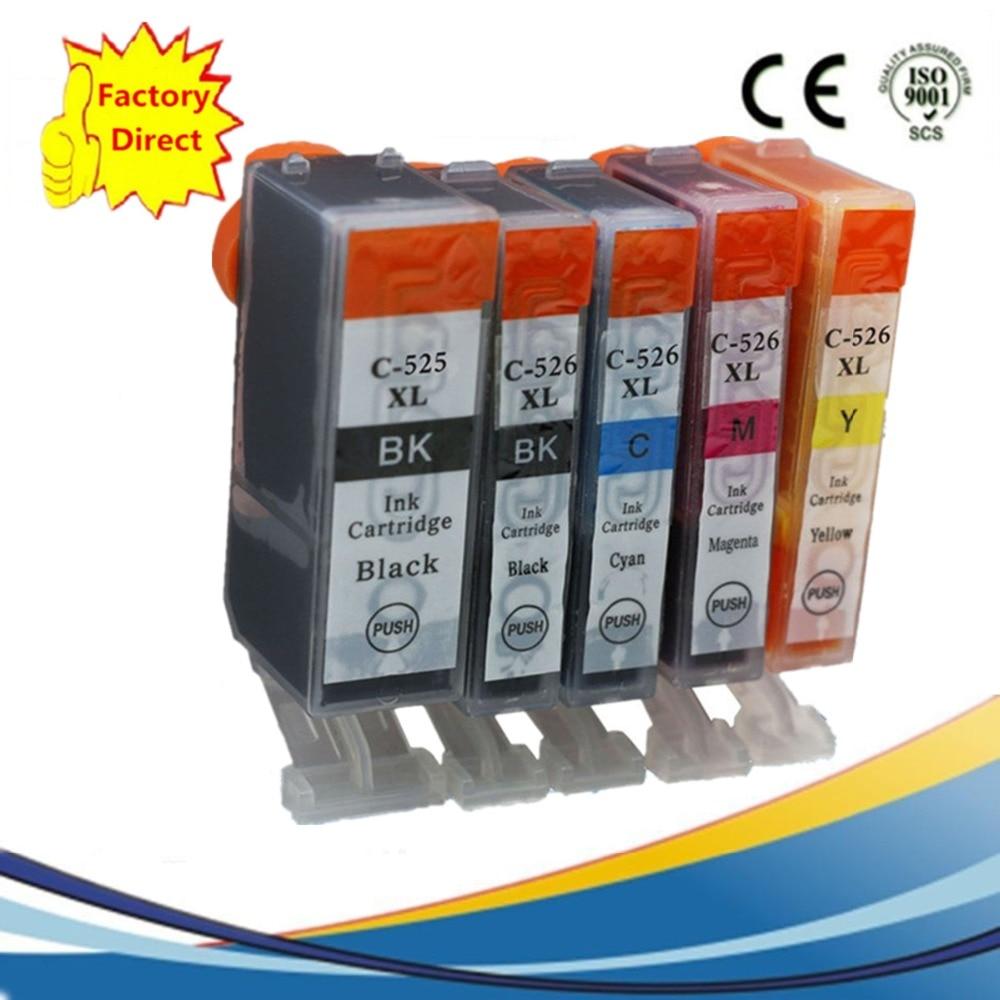 6 Pack 1 Set 1 Bk PGI525 PGI 525 XL CLI-526 PGI-525 PGI ...