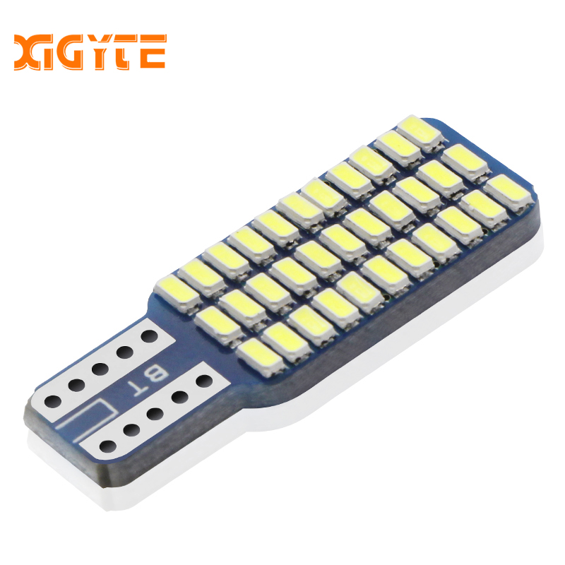 1pcs Car Led T10 192 194 168 W5W LED Bulbs 33 SMD 3014 Car Tail Lights Dome Lamp White DC 12V Canbus Error Free Auto Accessories