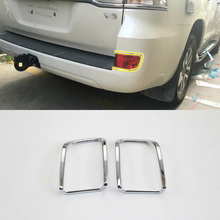 Car Accessories Exterior Decoration ABS Chrome Rear Fog Light Lamp Cover Trim 2pcs For Toyota Land Cruiser 2016 Car Styling car accessories exterior decoration abs chrome rear fog light fog lamp cover trim for kia k2 rio 2017 car styling