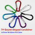 5PC/Lot 7# Aluminum Alloy Gourd Shaped Carabiner Clip Buckle Mosqueton For Outdoor Camping Hiking EDC Tool AA16-5P