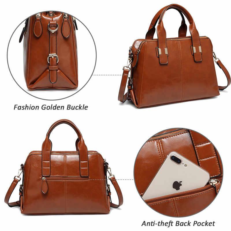 Vaschy bolsa de couro de patente para mulheres moda alça superior bolsa tote trabalho com compartimentos triplos maleta