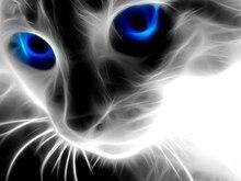 Art DIY 5D Diamond Mosaic Blue-eyed Cats Handmade Diamond Painting Cross Stitch Kits Diamond Embroidery Patterns Rhinestones