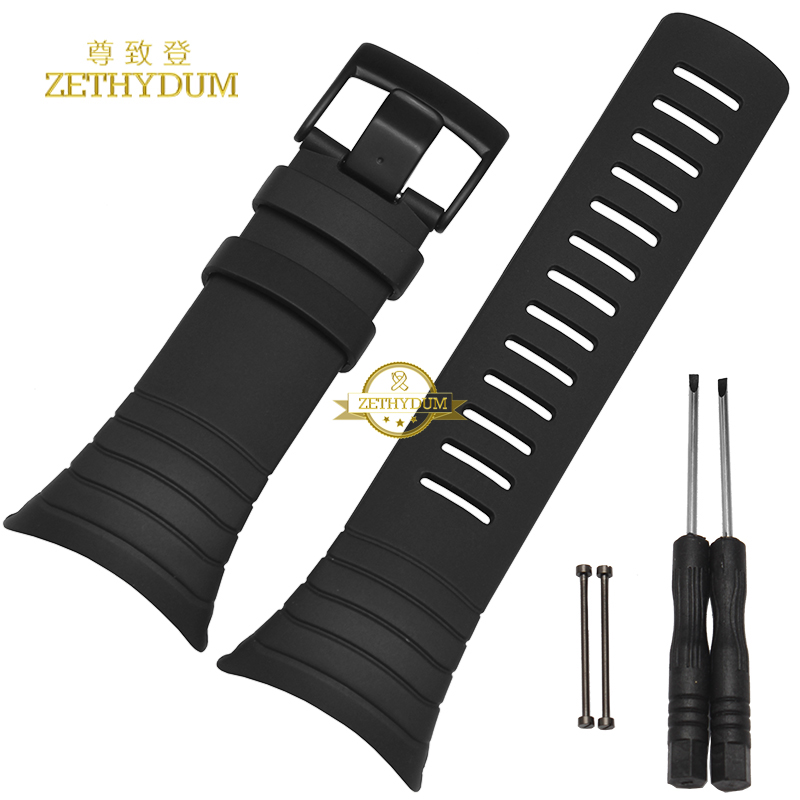 Smart Silicone Watches Band Watchband Rubber Strap Wristband Bracelet 25mm For SUUNTO CORE Wristwatches Belt  Free Tools