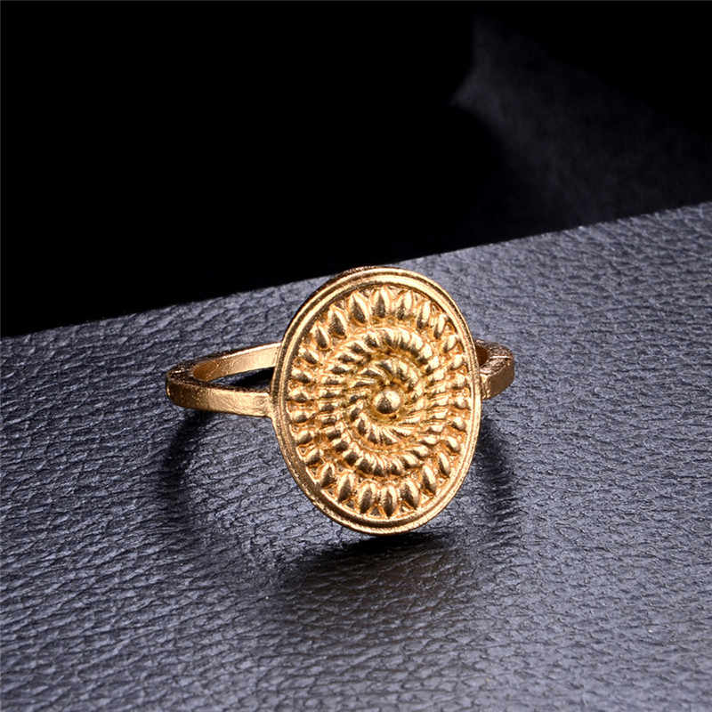ROMAD 6pcs/set  Gold Color Midi Finger Ring Set for Women Vintage Boho Knuckle Party Rings Punk Jewelry Gift for Girl R4