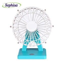 Sophisa wheel shape handheld mini fan usb portable fan desk rechargeable air conditioner for office home.jpg 250x250