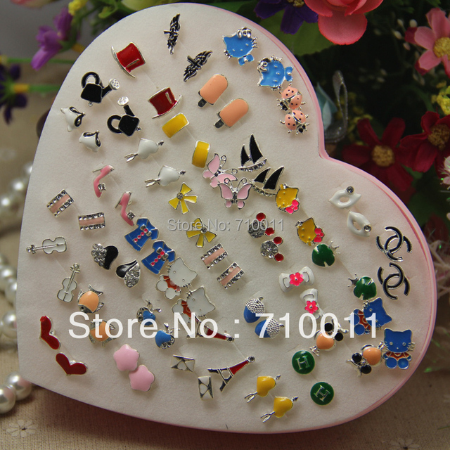 rainbow crystal bowknot fashion jewelry item trendy colourful earrings in studs from stud style women ear elegant for