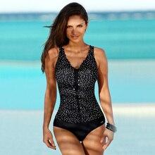 2019 New Women One-piece Printing Swimwear Bodysuit Europe and the United States Sexy Slim Swimsuit