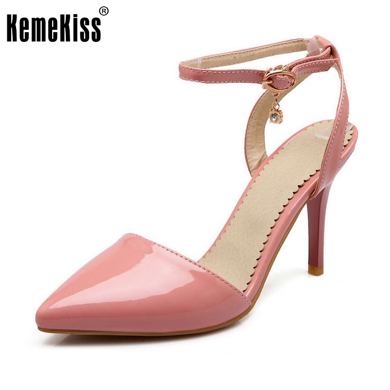 Women Pointed Toe Ankle Strap High Heel Sandals Sexy Wedding Shoes Woman Fashion Ladies Footwear Heels Shoes Size 33-43 PA00652 women flat sandals fashion ladies pointed toe flats shoes womens high quality ankle strap shoes leisure shoes size 34 43 pa00290