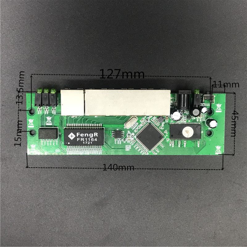 OEM 5 port router module manufacturer direct sell cheap wired distribution box 5-port router modules OEM wired router module 5