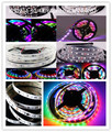 1m/5m 12V WS2811 5050SMD 30led/m 48led/m 60led/m Digital RGB Dream Color Pixel LED Strip 10mm Black/White PCB  IP20/IP67