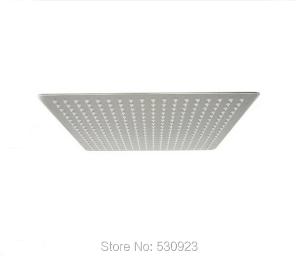 ФОТО Newly US Free ShippingModern Fashion 12-inch Shower Head Brushed Stainless Steel Top Gush Ultra-thin Square Rainfall Top Sprayer