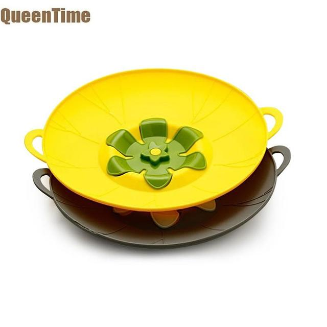 QueenTime Silicone Anti-spill Pot Covers Spill Stopper For Pans Pots Lids Kitchen Cooking Accessories Durable Food Cover Mats