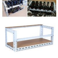 Steel Coin Open Air Mining Frame Rig Graphics Case Crypto Coin Computer Mining Case ATX Fit