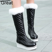 2015 New Arrival Black White Waterproof Fashion Casual Warm Fur Girls Lady Womens Winter Snow Boots X1267