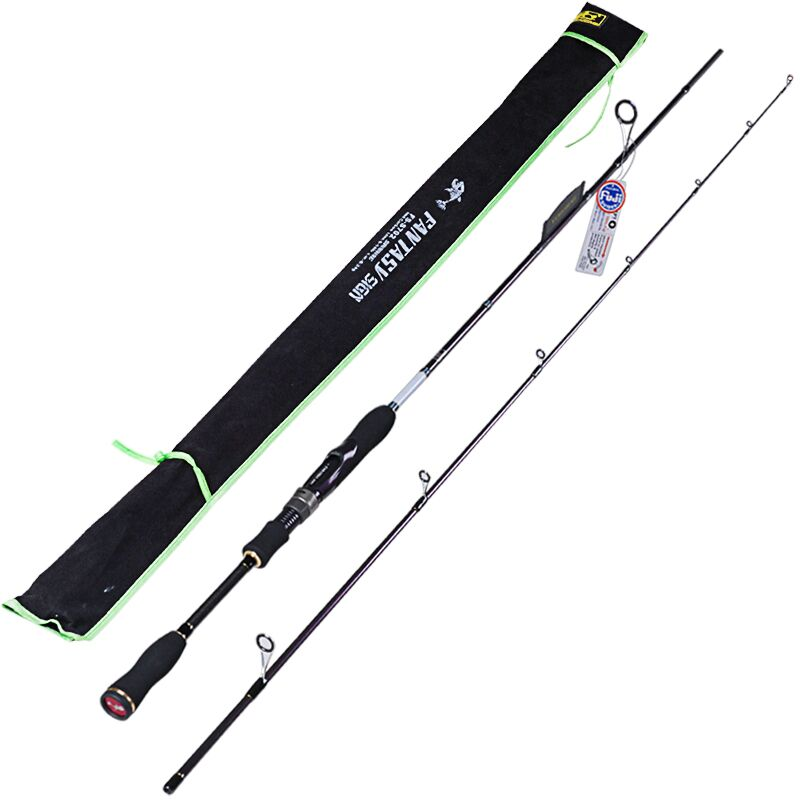 Spinning Fishing Rod 2 Section1.8m,2.1m,2.4m,Power:ML/M/MH IM8 Carbon99% Lure Rods Vara De Pesca Carp Olta Fishing Tackle Carp купить