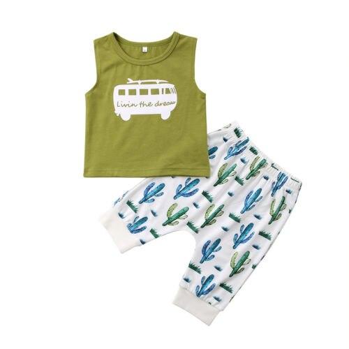 2018 для новорожденных одежда для малышей Одежда для мальчиков летние с Рубашка с короткими рукавами + шорты Детская одежда для мальчиков ком...