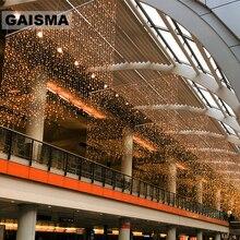 8 M x 2 M LED וילון אורות דקורטיביים חג מולד זר חתונה פיות אורות מסיבת השנה החדשה חג תאורה חיצוני