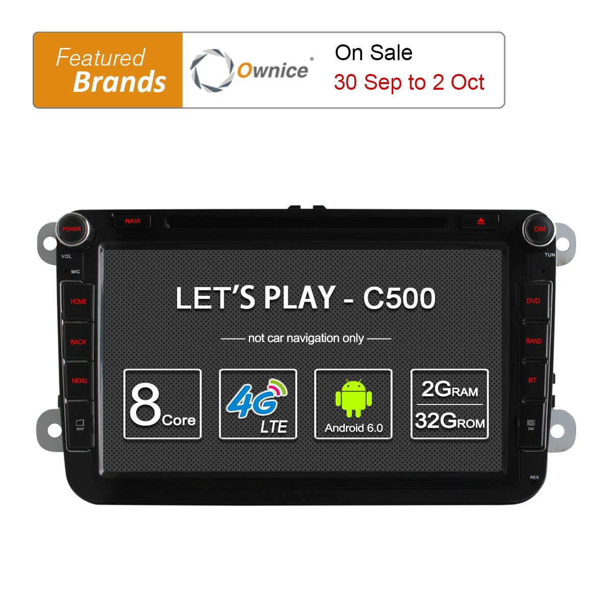 4G SIM LTE Network Ownice C500 Octa 8 Core Android 6.0 2G RAM 2 Din Car DVD GPS Navi Radio Player For VW Skoda Octavia 2 2 din quad core android 4 4 dvd плеер автомобиля для toyota corolla camry rav4 previa vios hilux прадо terios gps navi радио mp3 wi fi