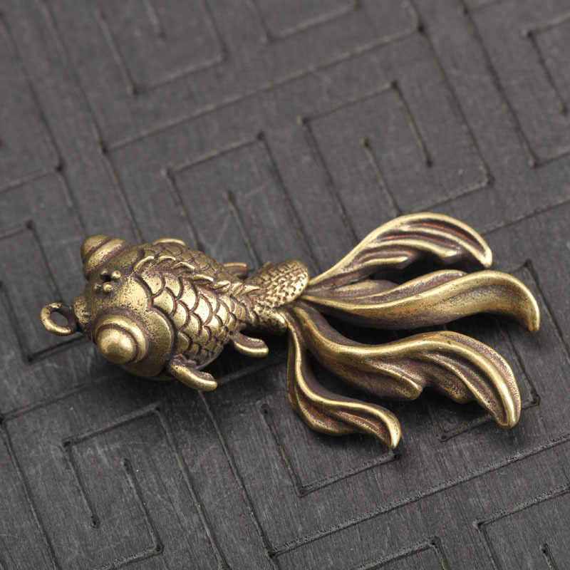 سلسلة مفاتيح نحاسية ذهبية صلبة ، سلسلة مفاتيح معدنية نحاسية عتيقة/حقيبة حلقات ، حامل مفاتيح بحلي ، هدايا فنية يدوية