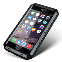 Aluminum Metal Element Waterproof Shockproof Mobile Phone Cover Case For IPhone 5 6 SE Gorilla Tempered