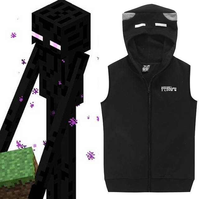 Online Shop Minecraft Cosplay Enderman Costume Cool Black Sleeveless