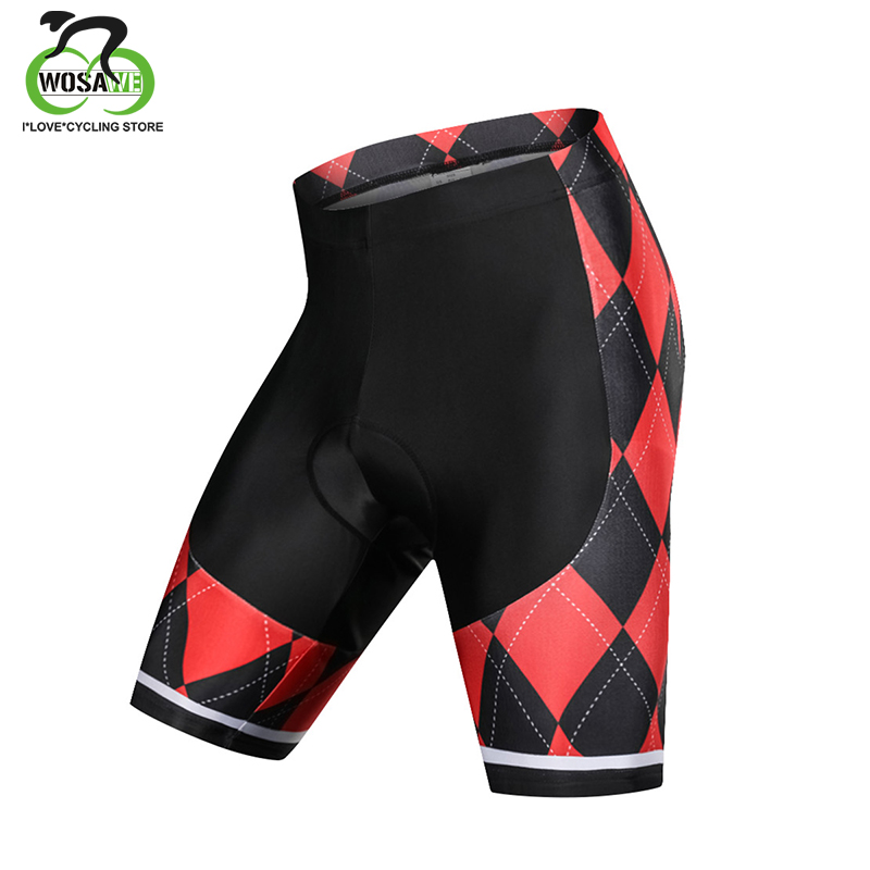 WOSAWE Mens Outdoor Wear Cycling Shorts Bike Bicycle Cycle Tights With 3D Pad Cycling Clothing Bike Equipments