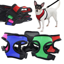 Adjustable Soft Breathable Dog Harness Nylon Mesh Vest Harness for Dog Puppy Collar Cat Pet Dogs Chest Strap Leash Free Shipping