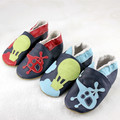 Charybdis ploughboys winter infant floor shoes sheepskin shoes skidproof toddler shoes plus velvet thermal thickening leather