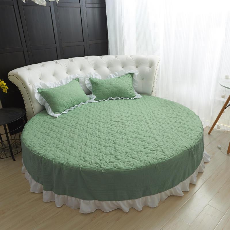 Korean Style Bed Skirt Round Sheet