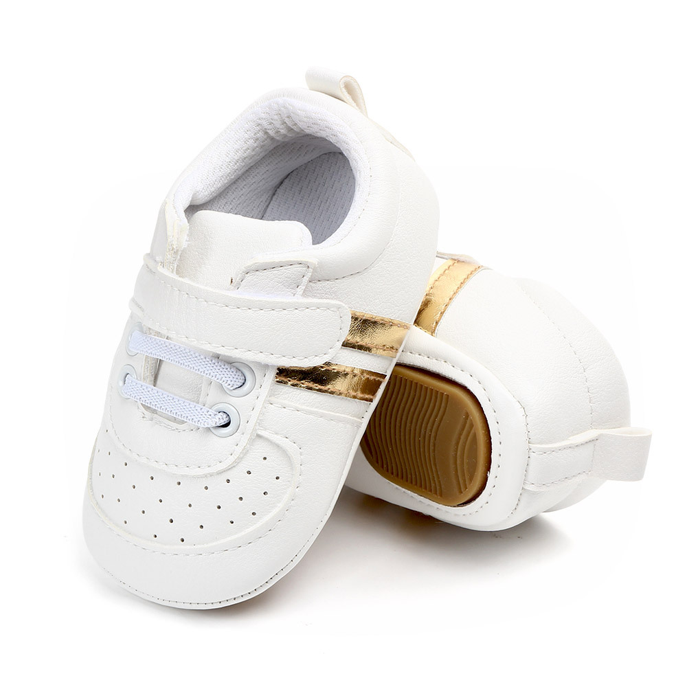 Baby Boys Girls Hard Sole Sneakers Toddler Infant PU Leather Anti-slip Newborn Moccasins First Walkers Casual Sports Shoes