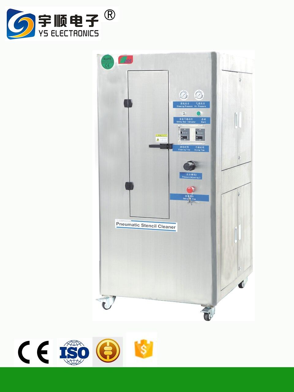 Glorioso Sistema De Limpieza De Esténcil Neumático 304 Acero Inoxidable Smt Plantilla Limpieza Machine-ys-750 Meticulosos Procesos De TeñIdo