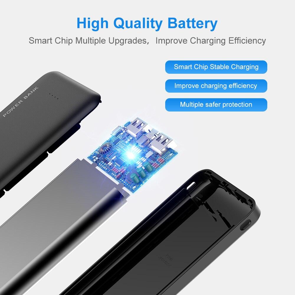 FLOVEME Power Bank 10000mAh Portable Charger For Samsung Xiaomi mi Mobile External Battery Powerbank 10000 mAh Poverbank Phone 2