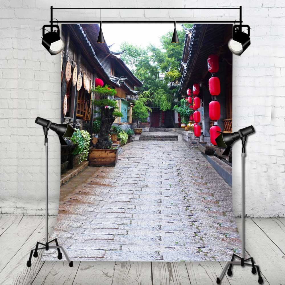 KIDNIU Lantern Retro Background Photo Props Vinyl 3mX3.5m Vintage House Photography Backdrops Studio jiegq117 kidniu chair background for baby photo studio props scenic vinyl street photography trees backdrops screen 9x5ft an070
