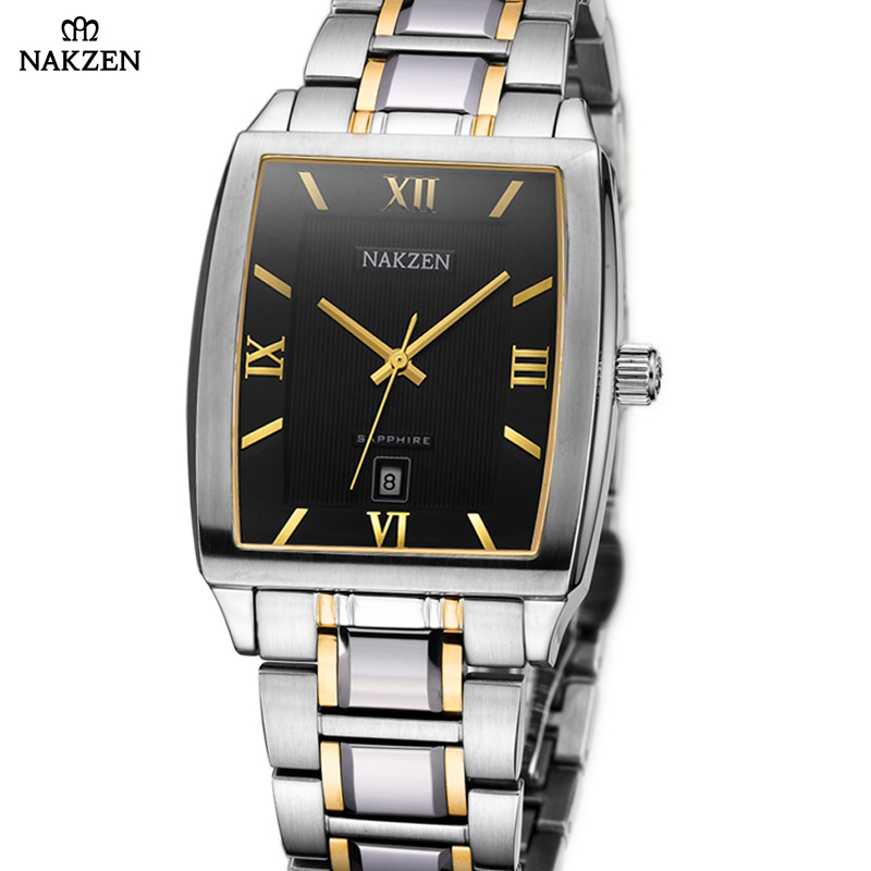 Fashion NAKZEN Business Mens Analog Quartz Watches Ray Men Wrist Watch 2018 Men Watch Top Brand Luxury Casual Steel Watch Clock mike 320 men s business casual analog quartz wrist watch w calendar silver