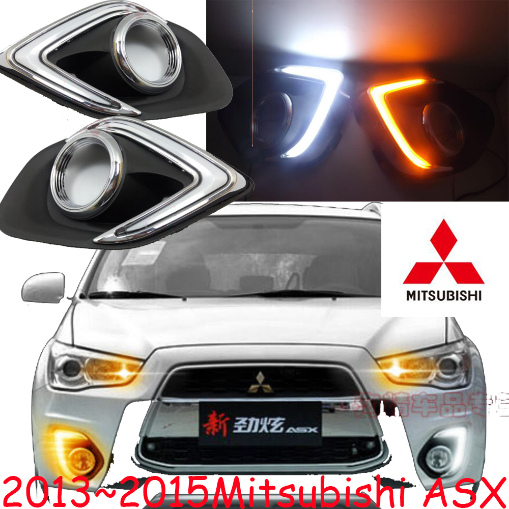 Car-styling,ASX daytime light,2013~2015,chrome,LED,Free ship!2pcs,outlander,ASX fog light,car-covers,ASX headlight car styling asx taillight 2013 2015 free ship 4pcs asx fog light chrome asx tail lamp jimny car detector asx