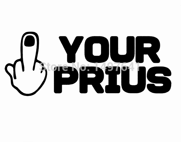 F your prius sticker funny jdm power stroke car rear windshield truck bumper laptop art wall humour joke vinyl decal 8 colors in car stickers from