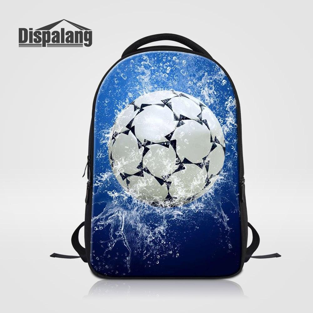 Dispalang football Design hommes voyage sacs à bandoulière Soccers imprimer sac à dos pour ordinateur portable grande capacité Mochila Escolar Rugzak Pack
