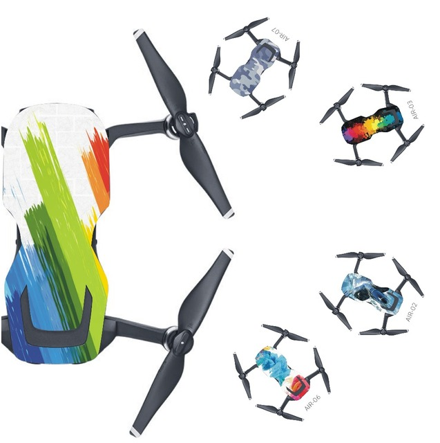 Skin Multi color Waterproof Stickers Decals PVC Cover Protector for DJI Mavic Air Drone Body Spare Parts Accessory