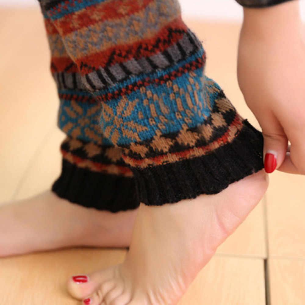 Kobiety zimowe ciepłe boże narodzenie nogi podkolanówki z dzianiny 3 kolory szydełka wysokiej długie skarpetki małe jelenie śnieg knitting stos stos Socks11.1