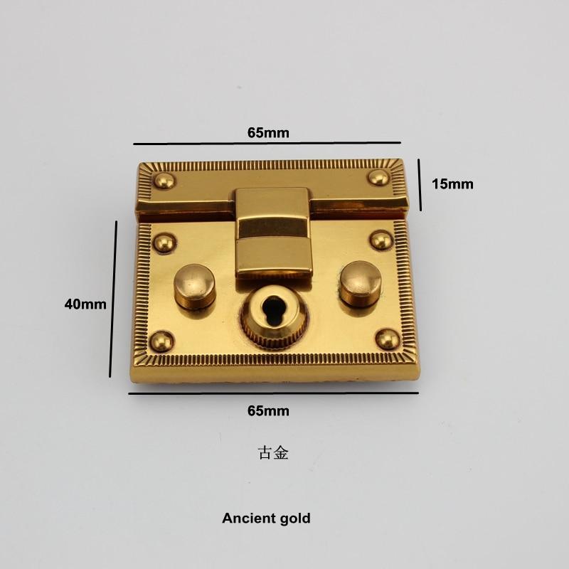 Old Gold Alloy  Twist Lock Free Shipping High-grade Leather Ladies Handbags  Bag Lock Handbags Hardware Accessories Diy