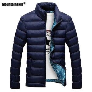 Image 2 - Mountainskin חורף גברים מעיל 2020 מותג מקרית Mens מעילי מעילי עבה Parka גברים להאריך ימים יותר 6XL מעיל זכר בגדים, EDA104