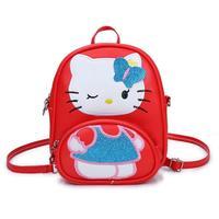 Cartoon Hello Kitty School Backpacks For Girls Kids Satchel Children School Bags For Kindergarten Mini Messenger