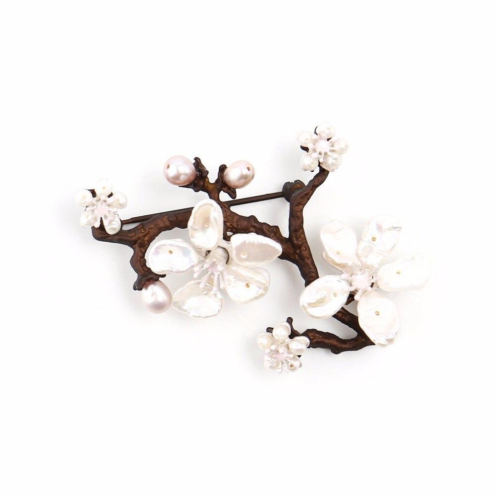 Գեղեցիկ բալի ծաղկի պղնձի լակի նկարել - Նորաձև զարդեր - Լուսանկար 1