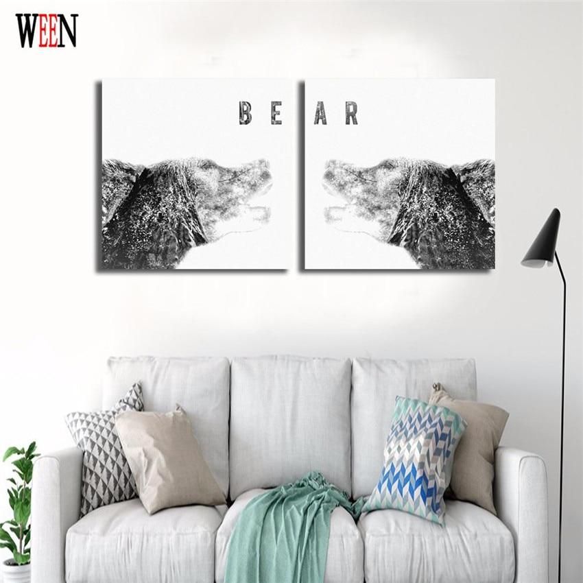 WEEN Gestreckt Und Eingerahmt Tier Wandbilder Für Wohnzimmer Moderne ...