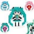 Sexy Vocaloid Hatsune Miku Figuras de Ação Anime modelo DIY blocos de brinquedo de Presente Presente para a menina